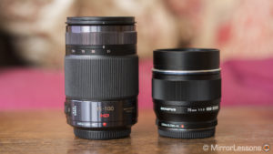 Olympus 75mm f/1.8 vs Panasonic 35-100mm f/2.8 – Apples vs Oranges