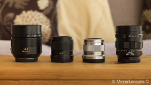 olympus 45mm vs panasonic 42.5mm vs nocticron 42.5mm vs voigtlander 42.5mm