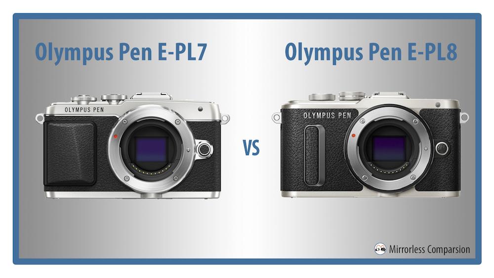 olympus pen epl7 vs epl8