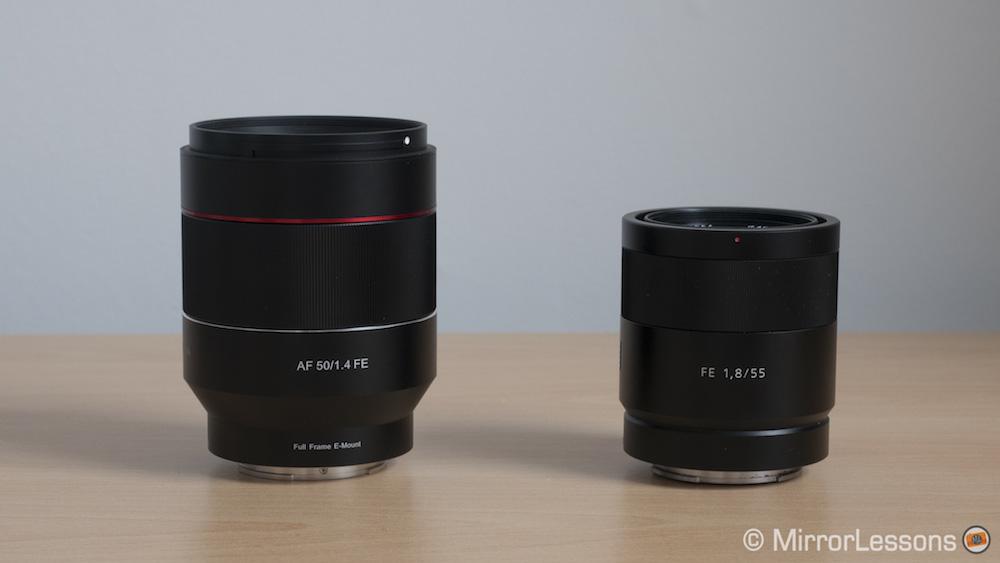 c7a8e071835d8 Samyang Rokinon AF 50mm f 1.4 FE vs Sony FE 55mm f 1.8 – The complete  comparison