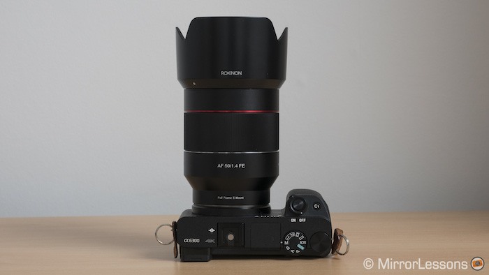 samyang rokinon 50mm af vs sony 55mm