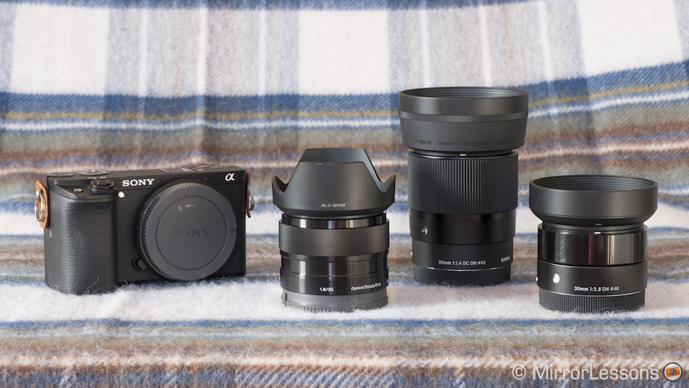 Sony 35mm f-1.8 vs Sigma 30mm f-1.4 vs Sigma 30mm f-2.8-4