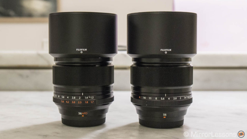 fujifilm 56mm vs 56mm apd