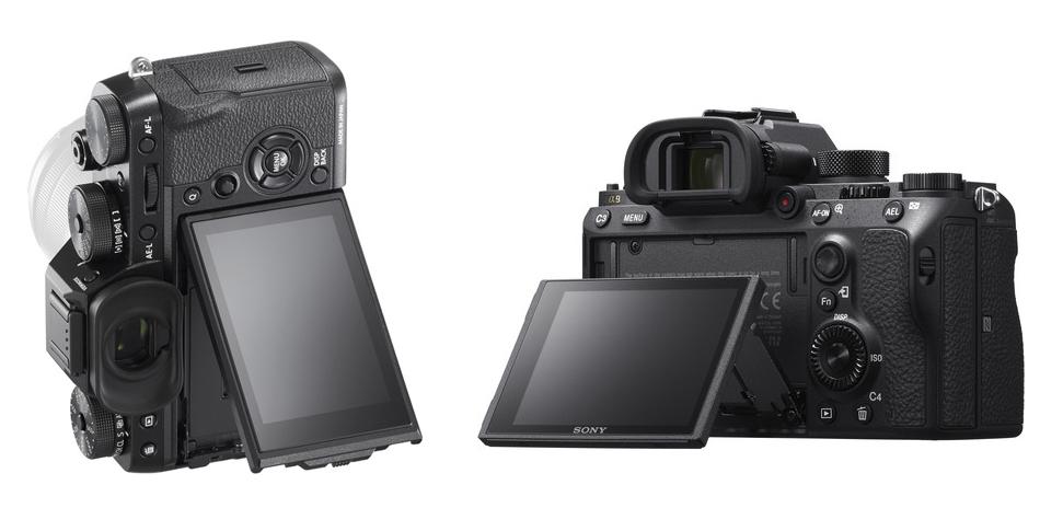 sony a9 vs x-t2 screen