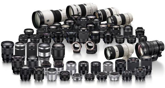 The E-mount range of lenses