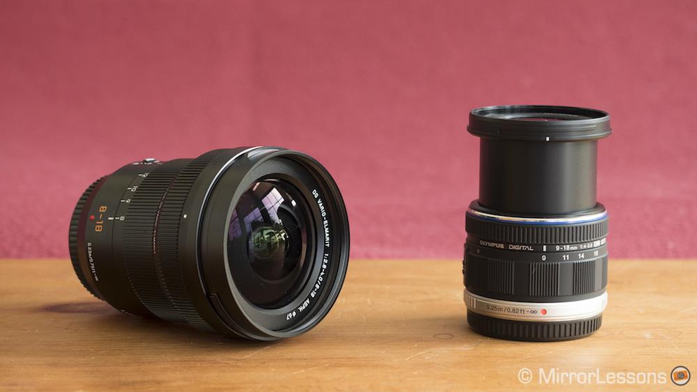 Panasonic Leica 8 18mm F 28 4 Vs Olympus MZuiko 9 56