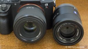 Sony FE 50mm f/1.8 vs FE 55mm f/1.8