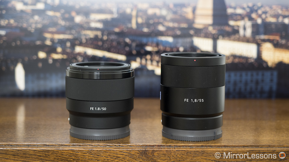 sony fe 50mm vs 55mm