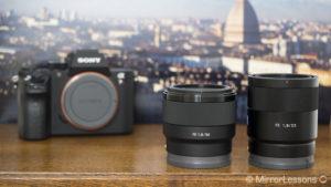 sony fe 50mm vs 55mm