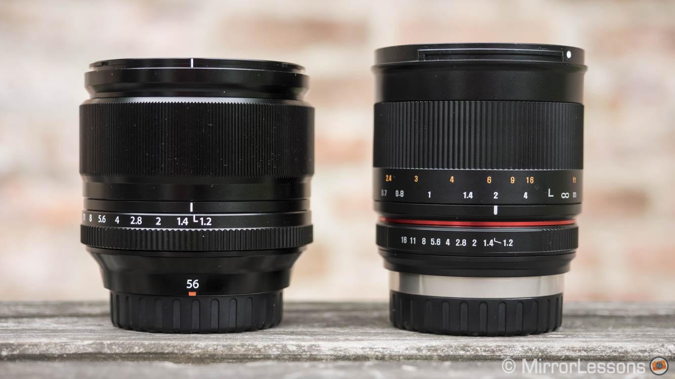 Samyang 50mm f/1 2 vs Fujifilm XF 56mm f/1 2 – The complete