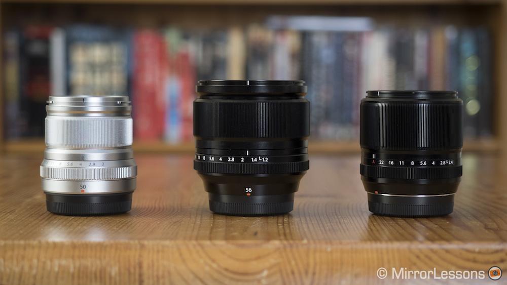 fuji 50mm vs 56mm vs 60mm