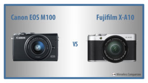 canon eos m100 vs fuji xa10