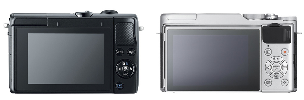 canon eos m100 vs fuji xa10 screen