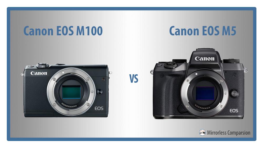 canon eos m100 vs m5