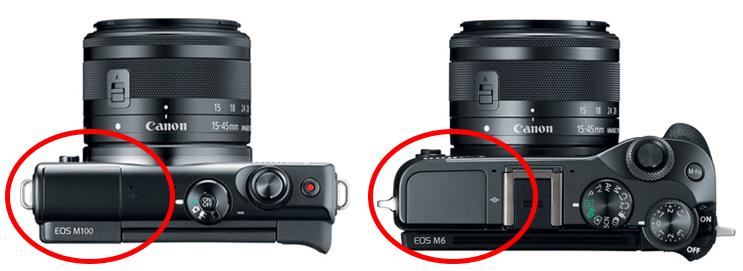 canon eos m100 vs m6 flash