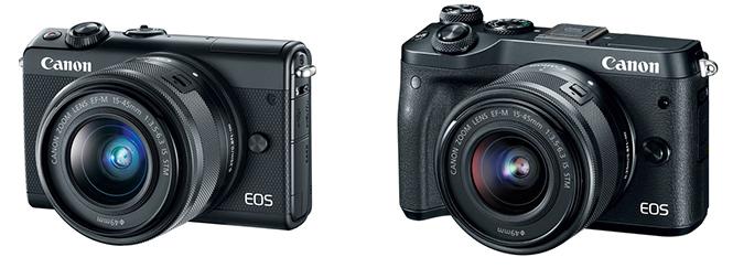 canon eos m100 vs m6 front