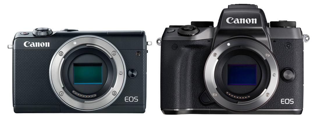 eos m100 vs m5 front