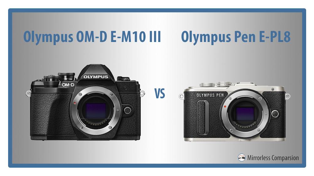 olympus omd em10 iii vs pen epl8