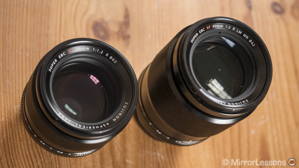 fujifilm 56mm vs 90mm
