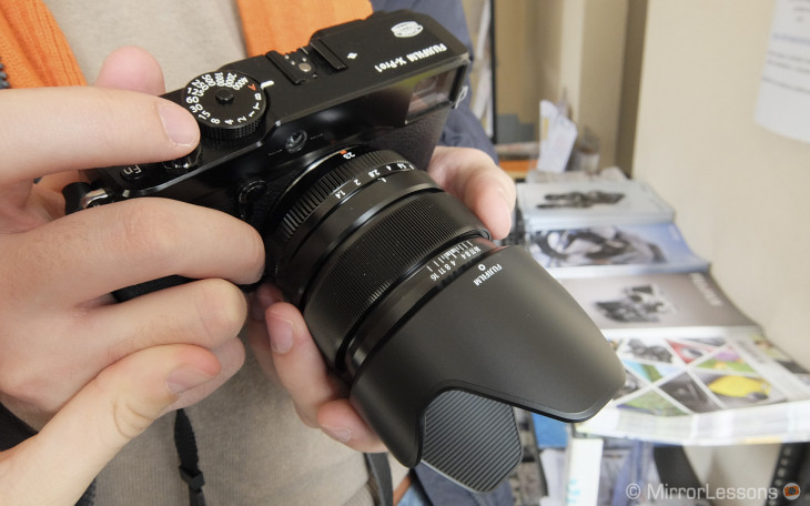 23mm lens mounted on the X-Pro1
