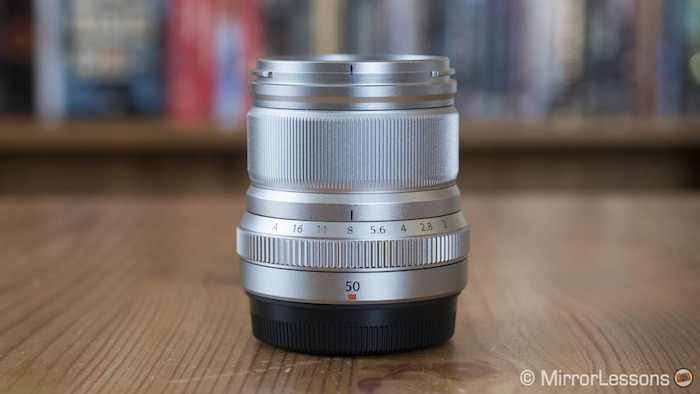 fujifilm 50mm f2 in silver finish with no hood