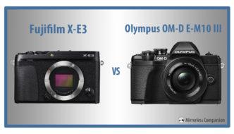fuji xe3 vs olympus omd em10 iii