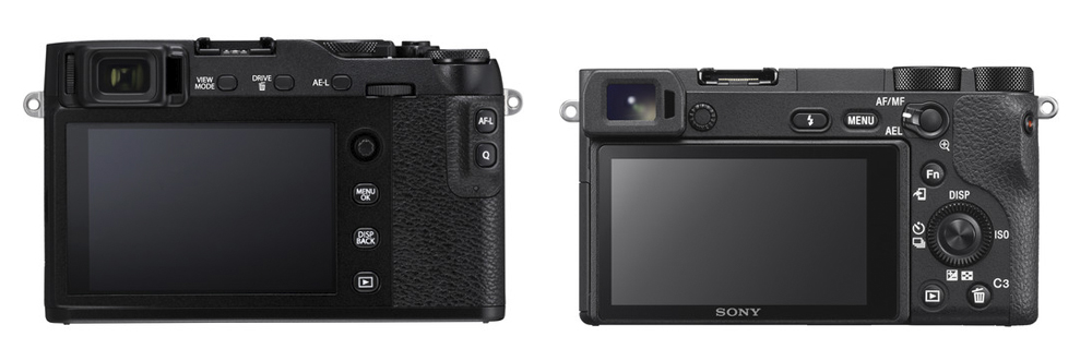 fuji xe3 vs sony a6500 rear