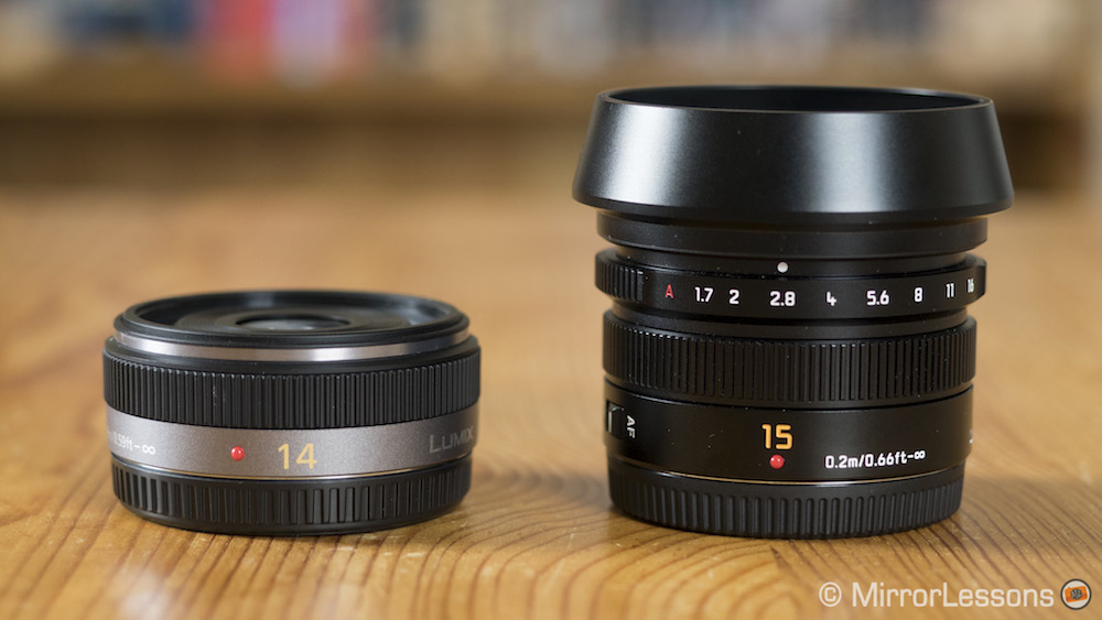 panasonic 14mm vs 15mm