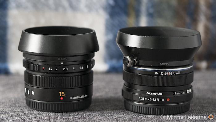 Panasonic Leica 15mm F 1 7 Vs Olympus M Zuiko 17mm F 1 8