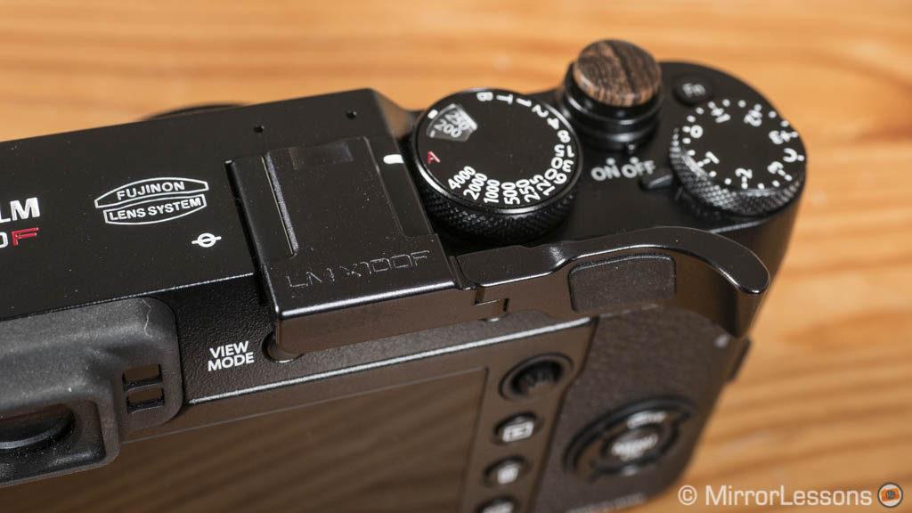 Lensmate Thumb Grip for Fujifilm X100F Black