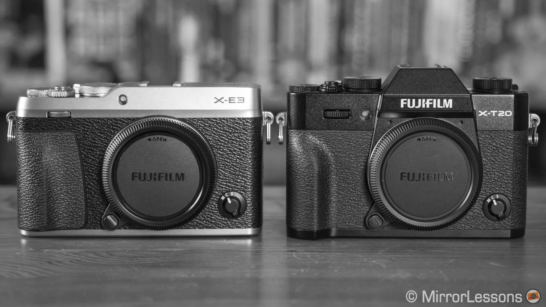 Fujifilm X-E3 vs  X-T20 – The complete comparison