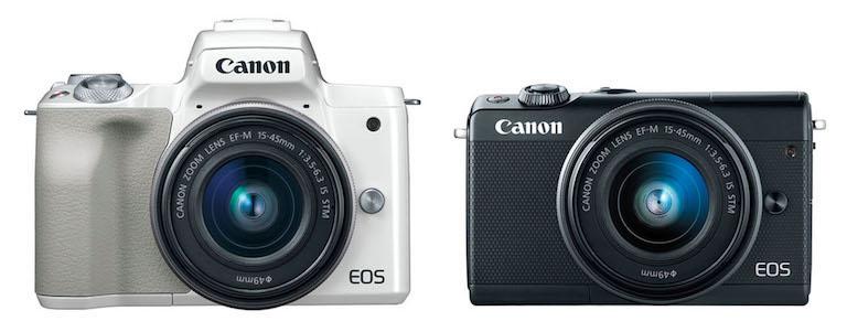 canon eos m50 vs m100 front