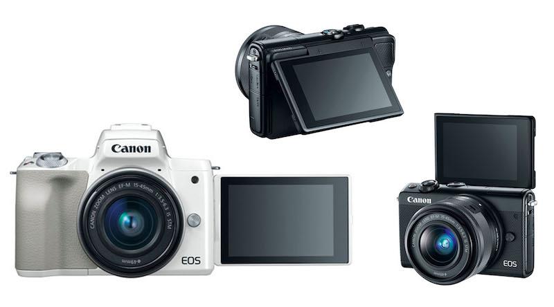 canon eos m50 vs m100 screen