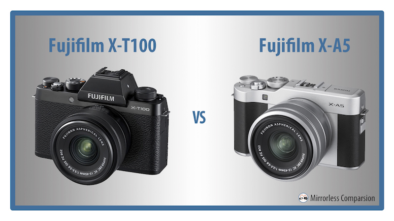 fuji xt100 vs xa5 differences