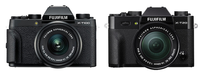 fujifilm xt100 vs xt20 grip