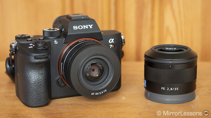sony fe 35mm 2.8 vs samyang rokinon 35mm 2.8 af-7