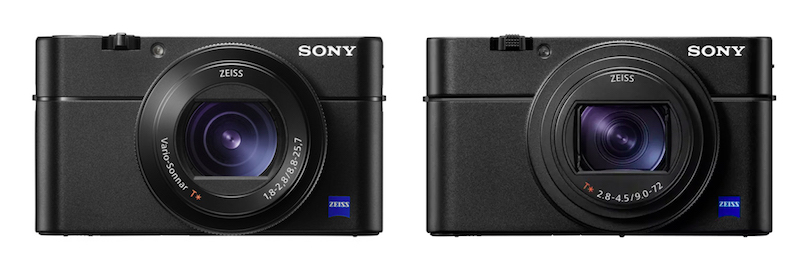 Sony RX100 V vs VI - Front view