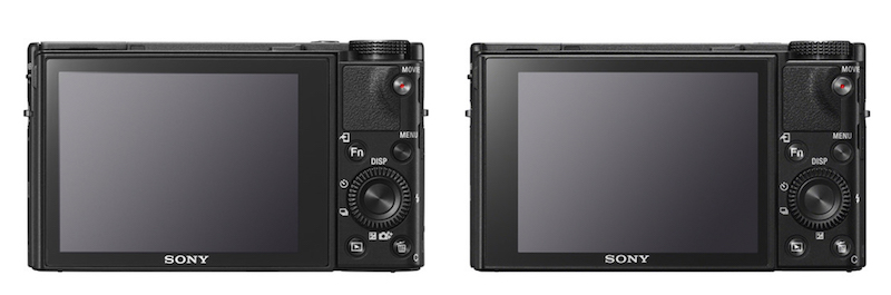 Sony RX100 V vs VI - Rear view
