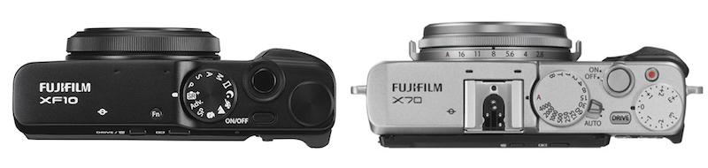 fuji x70 vs xf10 top