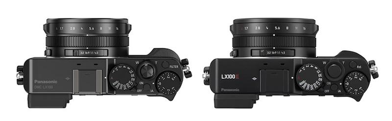 lumix lx100 vs lx100 ii top