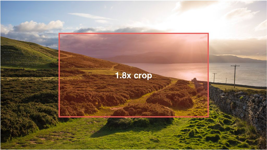graphic showing the 1.8x crop in comparison to the full area