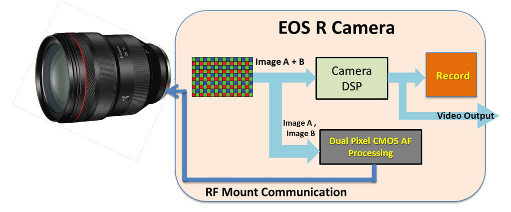 illustration of the Canon dual pixel cmos af workflow