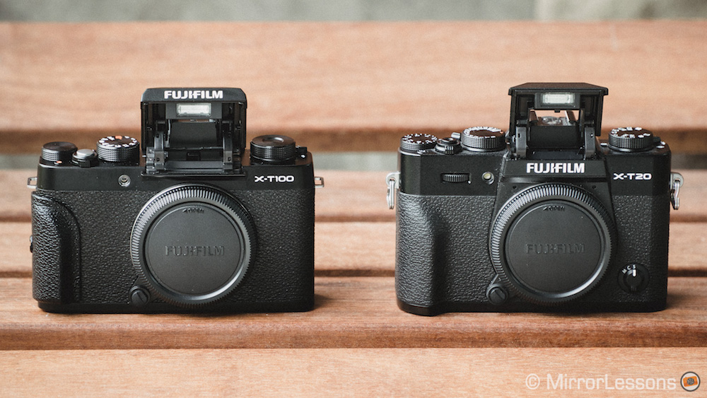 fujifilm xt100 vs xt20 flash
