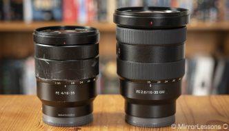 Sony FE 16-35mm f/2.8 GM vs 16-35mm f/4 ZA OSS – The complete comparison