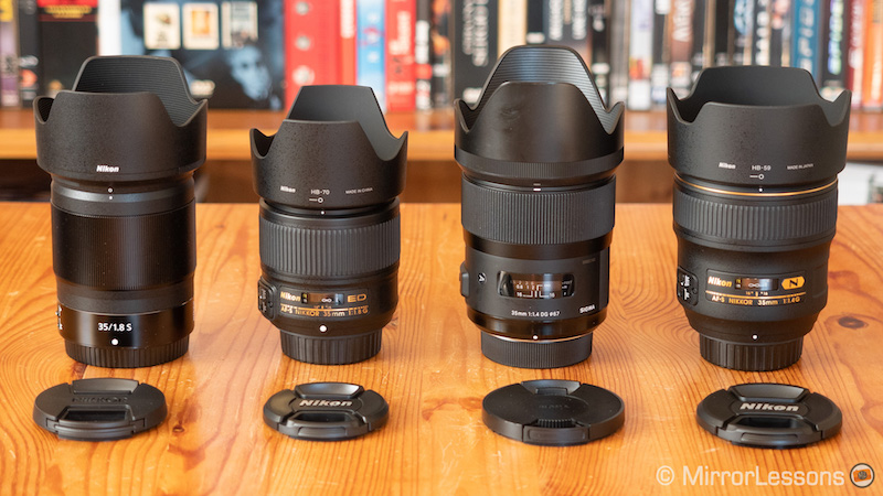 nikkor z 35mm 1.8 vs 35mm 1.8 vs 35mm 1.4 vs sigma 35mm 1.4-4