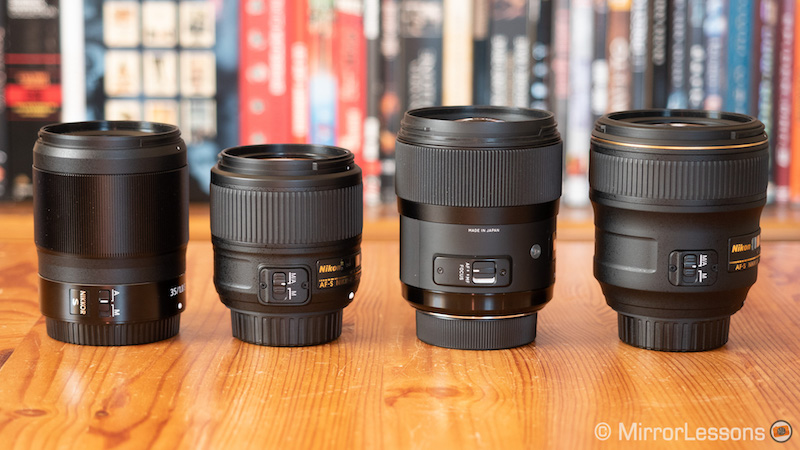 nikkor z 35mm 1.8 vs 35mm 1.8 vs 35mm 1.4 vs sigma 35mm 1.4-6