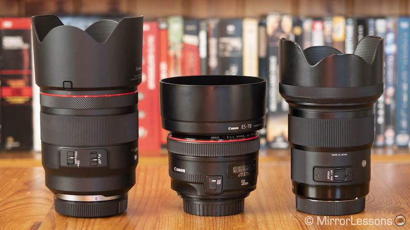canon rf 50mm 1.2 vs ef 50mm 1.2 vs sigma 50mm