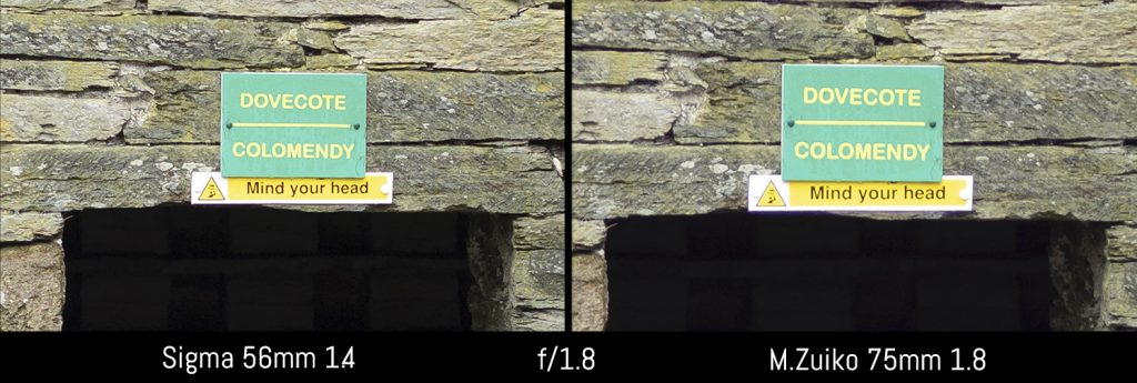 sigma 56mm vs olympus 75mm 1.8-1