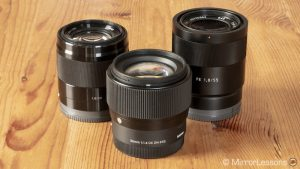 sigma 56mm vs sony 50mm vs sony 55mm-4