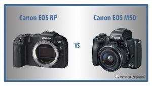 canon eos rp vs eos m50
